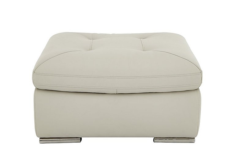 Embrace Leather Footstool in M9015 Grey on FV