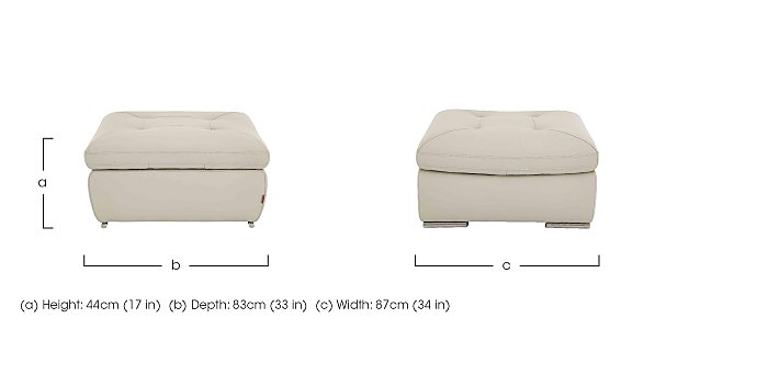 Embrace Leather Footstool in  on FV