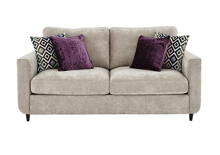 Esprit 2 Seater Fabric Sofa in Silver Ebony Feet on FV
