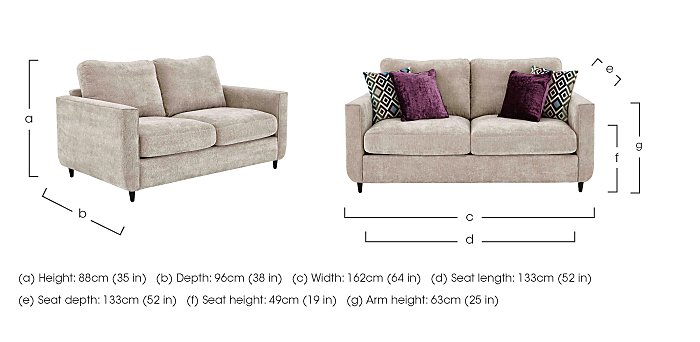 Esprit 2 Seater Fabric Sofa in  on FV