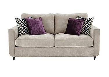 Esprit 3 Seater Fabric Sofa in Silver Ebony Feet on FV