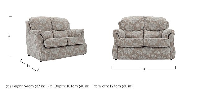 Florence Small 2 Seater Fabric Sofa in  on FV