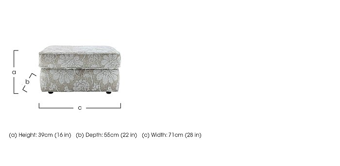 Florence Fabric Storage Stool in  on FV