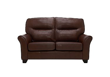 Gemma 2 Seater Leather Sofa in P210 Capri Oak on FV