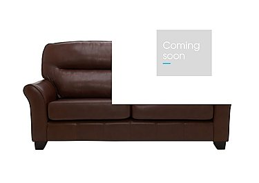 Gemma 3 Seater Leather Sofa in P210 Capri Oak on FV