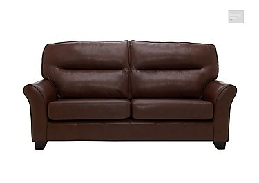 Gemma 3 Seater Leather Sofa  in {$variationvalue}  on FV