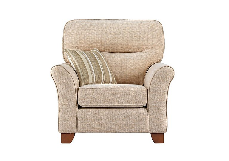 Gemma Fabric Armchair in A071 Boucle Oyster on FV