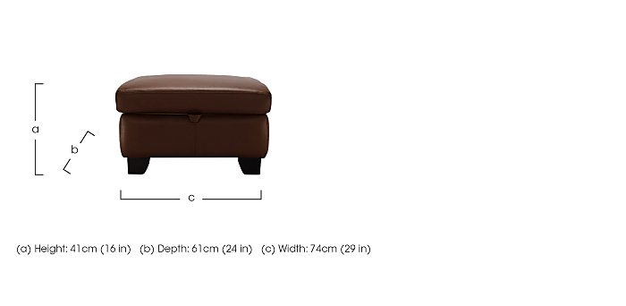 Gemma Leather Footstool in  on FV