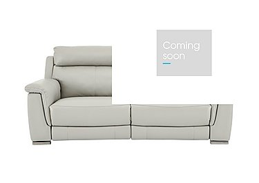 Glider 2 Seater Leather Recliner Sofa in An-041e Oyster Grey on FV