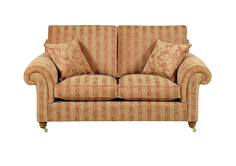 Hamilton 2 Seater Fabric Sofa in Symphony Stripe - Russet Sand on FV