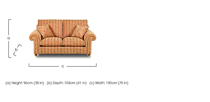 Hamilton 2 Seater Fabric Sofa in  on FV