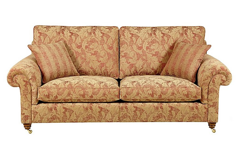 Hamilton 3 Seater Fabric Sofa in Rhapsody - Russet Sand on FV