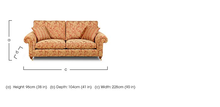Hamilton 3 Seater Fabric Sofa in  on FV