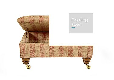 Hamilton Fabric Storage Footstool in Symphony Stripe - Russet Sand on FV