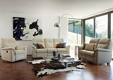 Hudson 2 Seater Leather Recliner Sofa in  on FV