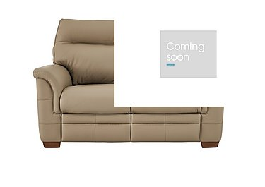 Hudson 2 Seater Leather Recliner Sofa in Lp53051-19 Como Taupe on FV