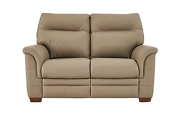 Hudson 2 Seater Leather Recliner Sofa in Lp53051-19 Como Taupe on Furniture Village