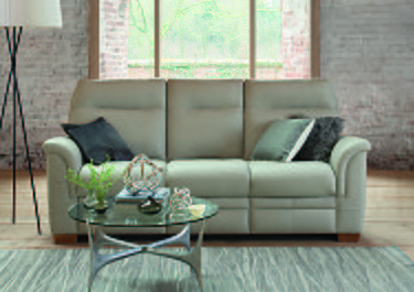 Hudson 3 Seater Leather Recliner Sofa in  on FV