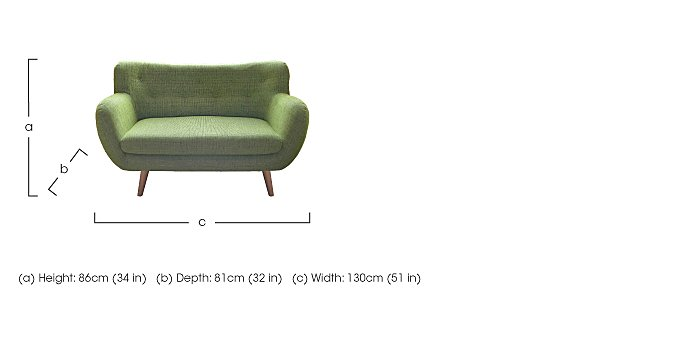 Jasper 2 Seater Fabric Sofa in  on FV