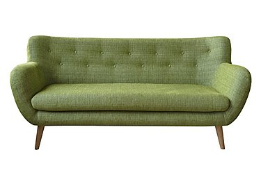 Jasper 3 Seater Fabric Sofa in Lemans 1070 Lime on FV