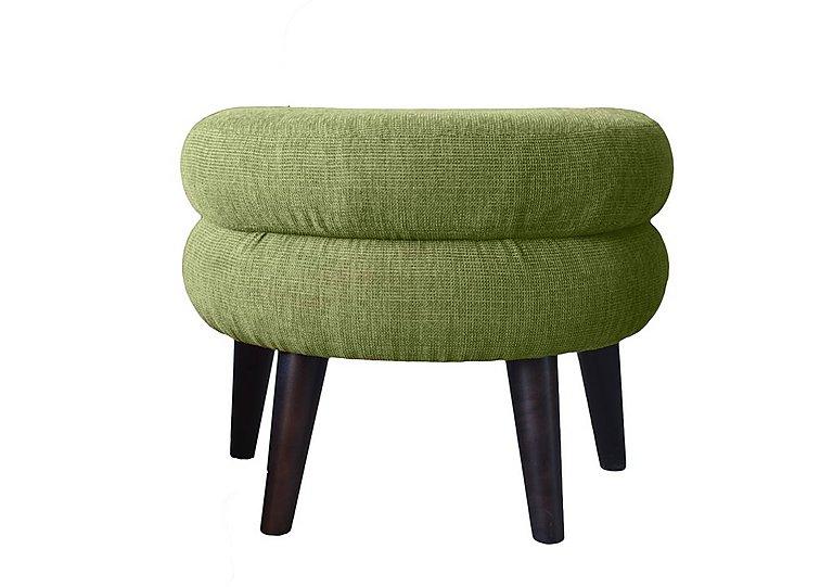 Jasper Fabric Footstool in Lemans 1070 Lime on Furniture Village
