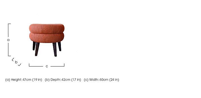 Jasper Fabric Footstool  in {$variationvalue}  on FV
