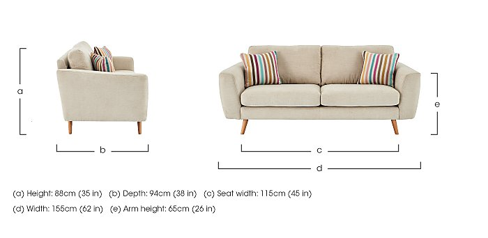 Jenson 2 Seater Fabric Sofa in  on Furniture Village
