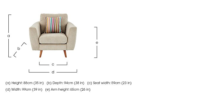 Jenson Fabric Armchair in  on FV