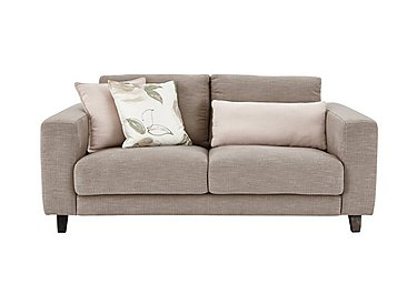 Kick 2 Seater Fabric Sofa in Cossette 245 Fawn Dark Feet on Furniture Village