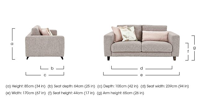 Kick 2 Seater Fabric Sofa in  on Furniture Village