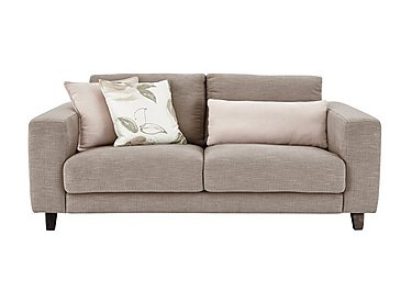 Kick 2.5 Seater Fabric Sofa in Cossette 245 Fawn Dark Feet on FV