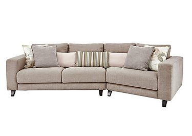 Kick K Angled Fabric Sofa in Cossette 245 Fawn Dark Feet on FV