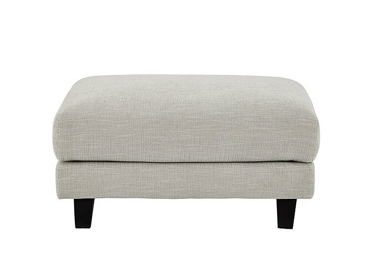 Kick Fabric Footstool in Cossette 243 Agean Dark Feet on FV
