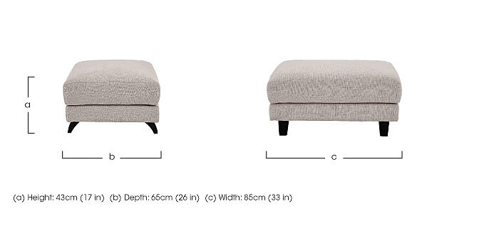 Kick Fabric Footstool in  on FV