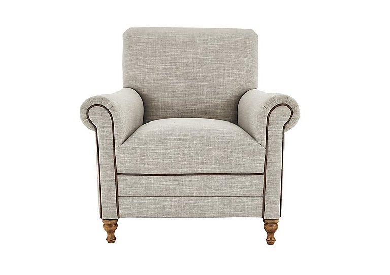 New England Knox Fabric Armchair in Mrch Lin Wht Sand Con-Pipe Wof on FV