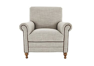 New England Knox Fabric Armchair in Mrch Lin Wht Sand Con-Pipe Wof on Furniture Village