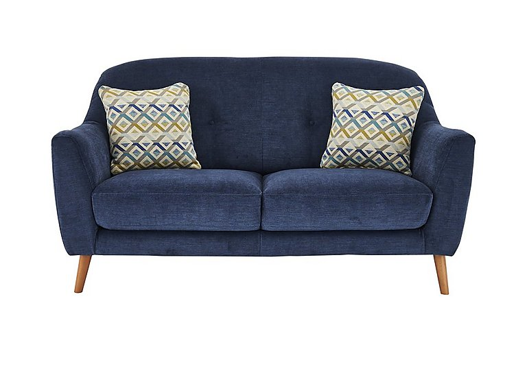 Kurve 2 Seater Fabric Sofa in Grd-19 Blue on Furniture Village