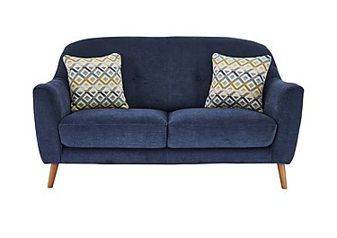 Kurve 2 Seater Fabric Sofa in Grd-19 Blue on FV