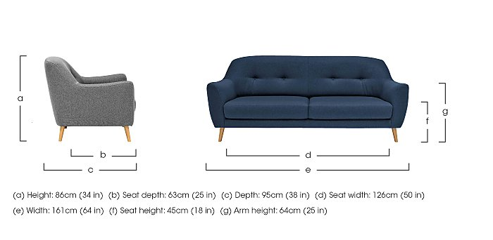 Kurve 2 Seater Fabric Sofa in  on Furniture Village
