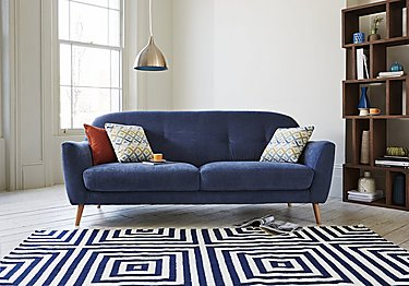 Kurve 3 Seater Fabric Sofa in  on FV