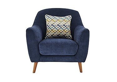 Kurve Fabric Armchair in Grd-19 Blue on FV