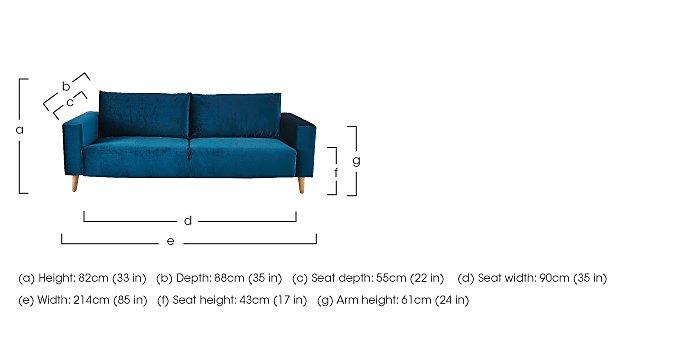 Magnus 3 Seater Fabric Sofa  in {$variationvalue}  on FV