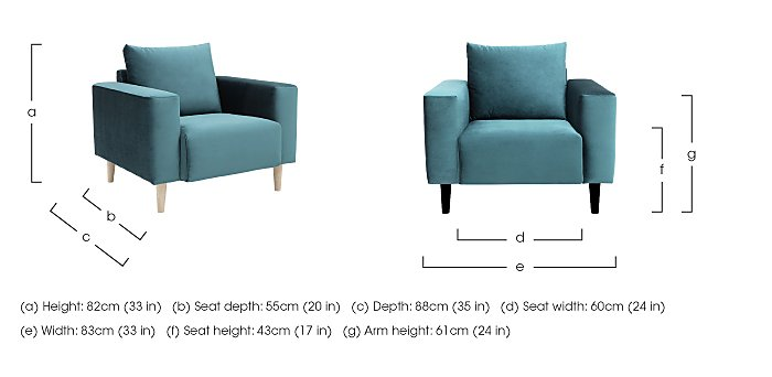 Magnus Fabric Armchair in  on FV