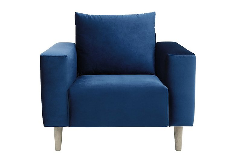 Magnus Fabric Armchair in Genova-603 Turquoise-Nat Feet on FV
