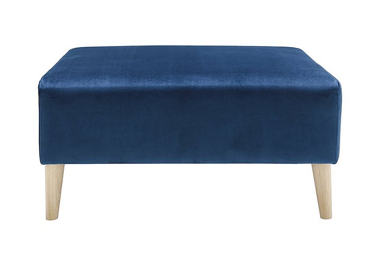 Magnus Fabric Footstool in Genova-603 Turquoise-Nat Feet on FV