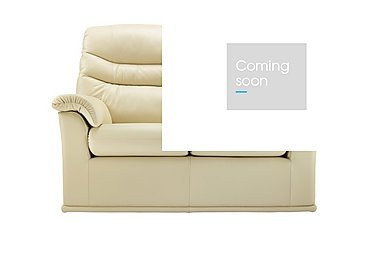 Malvern 2 Seater Leather Recliner Sofa in P206 Capri Cream on FV