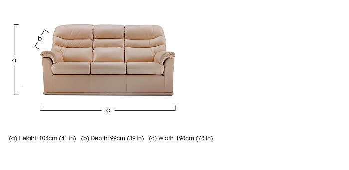 Malvern 3 Seater Leather Recliner Sofa in  on FV