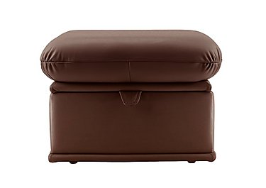 Malvern Leather Storage Footstool in N831 Dallas Chocolate on FV