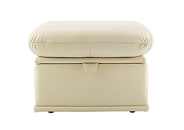 Malvern Leather Storage Footstool in P206 Capri Cream on FV
