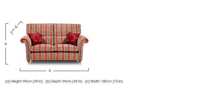 Mayfair 2 Seater Fabric Sofa in  on FV